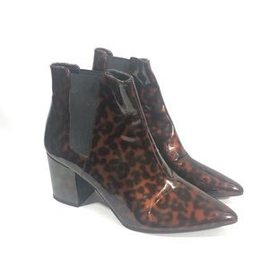 ZARA Basic Collection Pointy Toe Leopard Booties 9